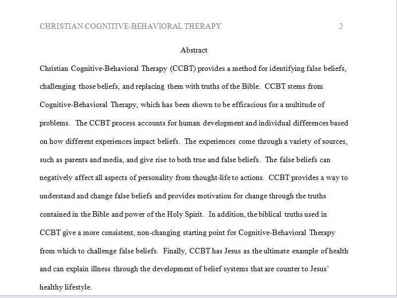 personal theory paper christian counseling Personal theory of counseling or psychotherapy personal theory of counseling or psychotherapy personal theory of counseling of counseling or psychotherapy introduction this application paper.